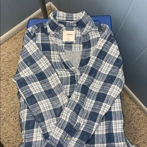 High-low Flannel Sweater